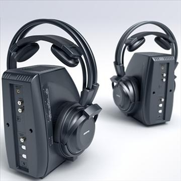 onkyo mhp-a1 wireless headphones 3d model 3ds max fbx obj 81282