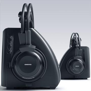 onkyo mhp-a1 wireless headphones 3d model 3ds max fbx obj 81284