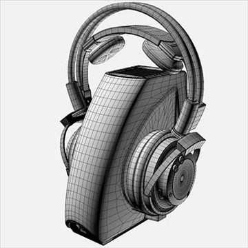 onkyo mhp-a1 wireless headphones 3d model 3ds max fbx obj 81285