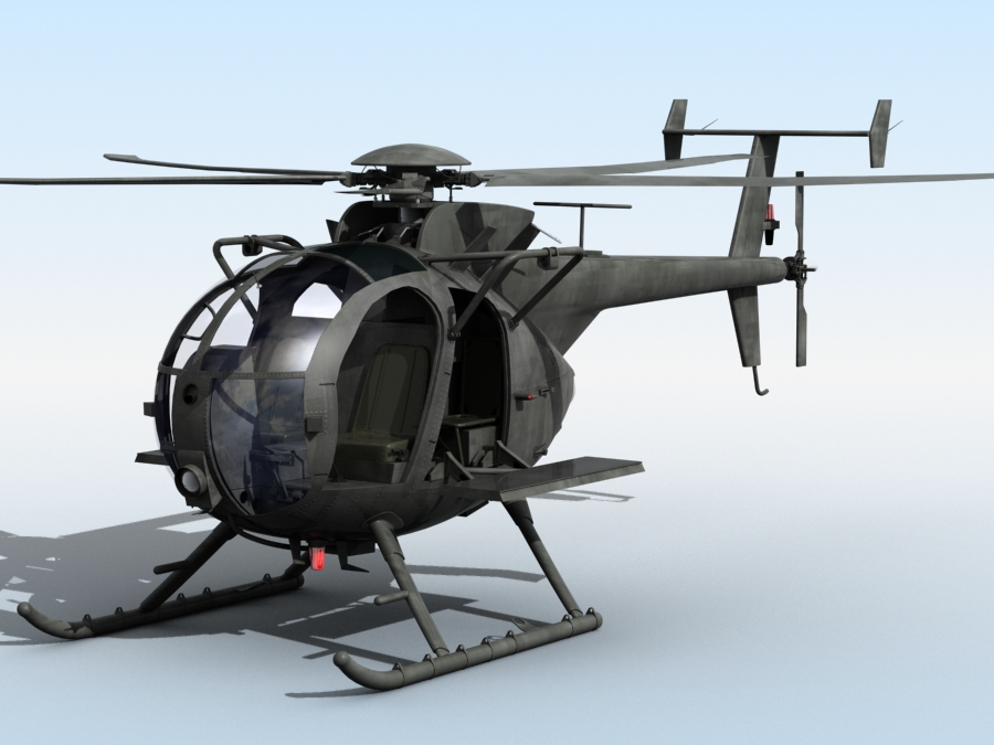 ah-6 little bird 3d model 3ds max fbx obj 123038