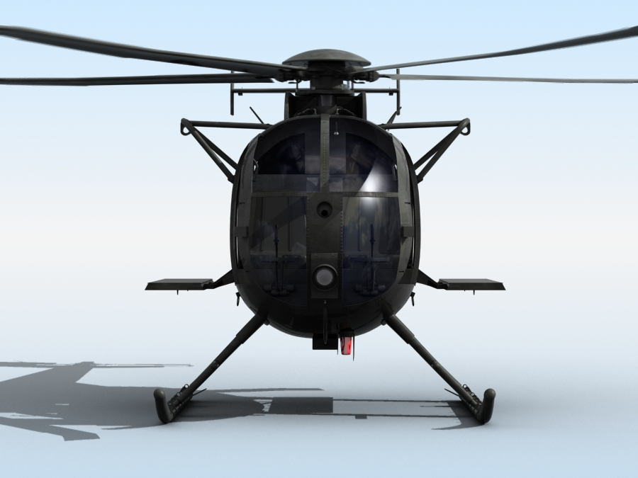 ah-6 little bird 3d model 3ds max fbx obj 123039