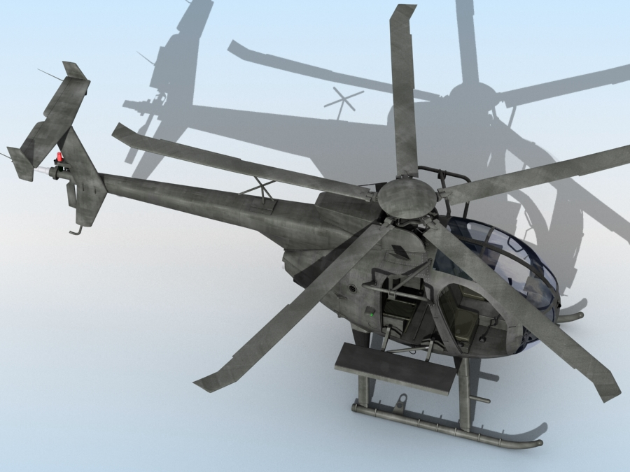 ah-6 little bird 3d model 3ds max fbx obj 123040
