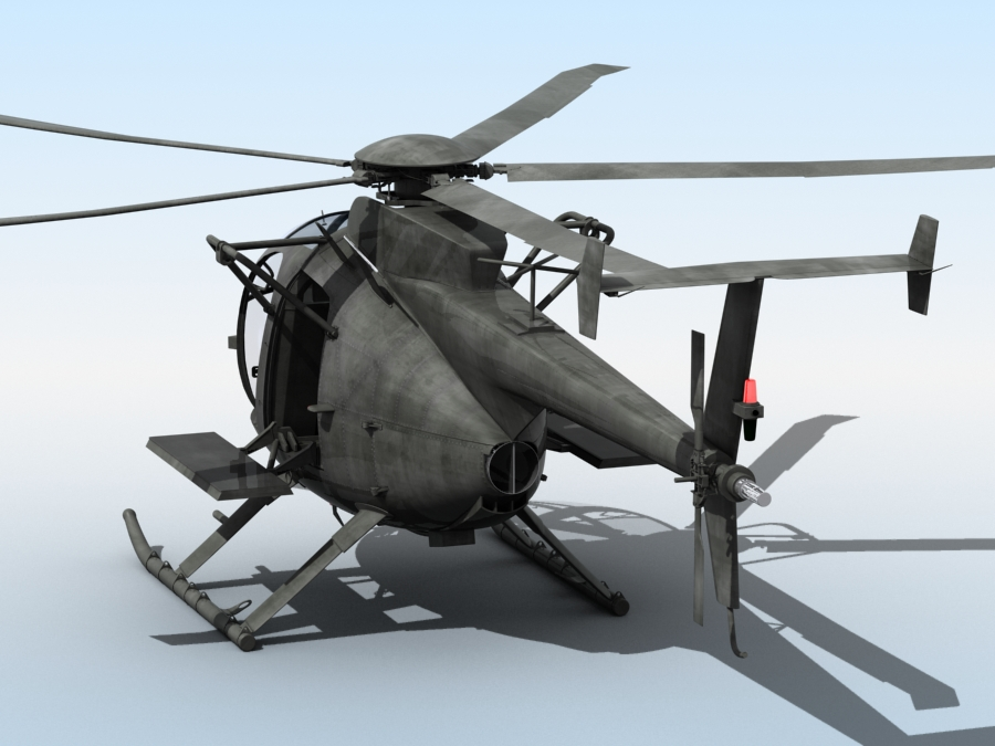ah-6 little bird 3d model 3ds max fbx obj 123041