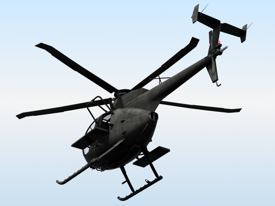 ah-6 little bird 3d model 3ds max fbx obj 123042