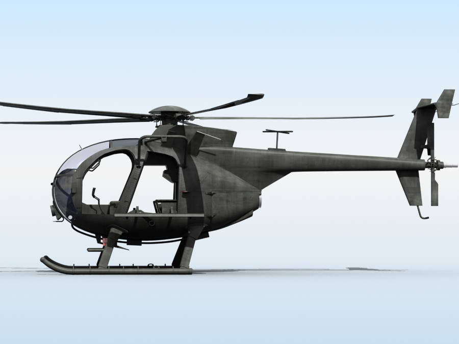 ah-6 little bird 3d model 3ds max fbx obj 123043