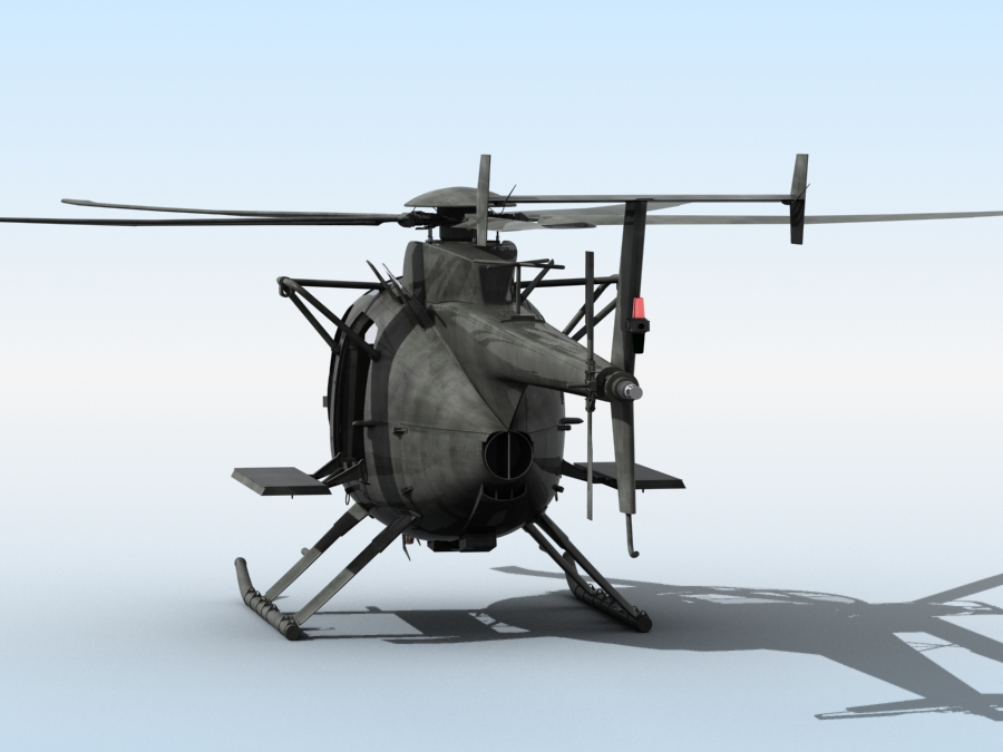 ah-6 little bird 3d model 3ds max fbx obj 123044