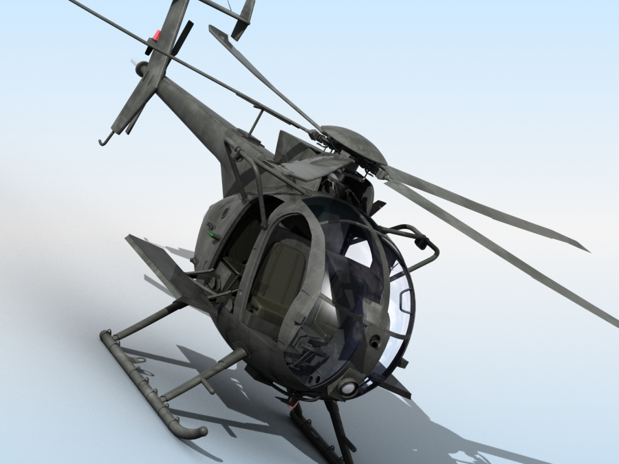 ah-6 little bird 3d model 3ds max fbx obj 123045