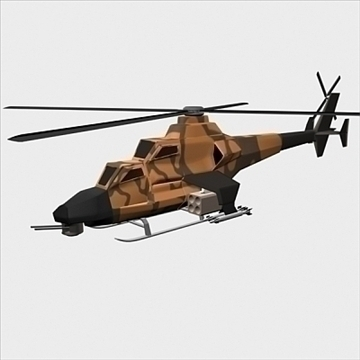 army helicopter 3d model 3ds max fbx blend lwo obj 105120