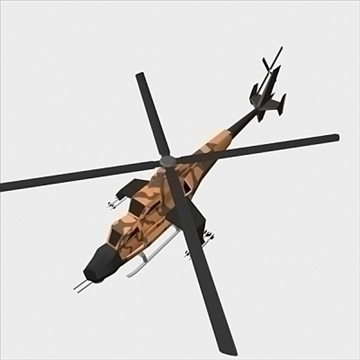 army helicopter 3d model 3ds max fbx blend lwo obj 105121