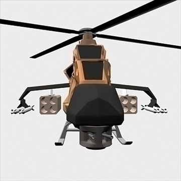 army helicopter 3d model 3ds max fbx blend lwo obj 105122