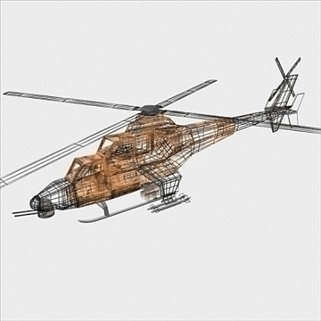 army helicopter 3d model 3ds max fbx blend lwo obj 105125