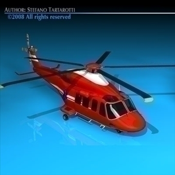 aw-139 luft ambulance 3d model 3ds dxf c4d obj 91963
