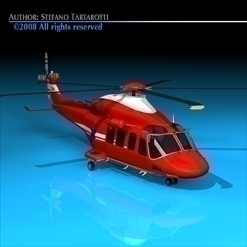 aw-139 air ambulance 3d model 3ds dxf c4d obj 91964