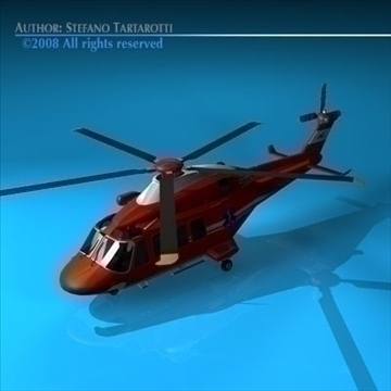 aw-139 air ambulance 3d model 3ds dxf c4d obj 91965