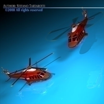 aw-139 air ambulance 3d model 3ds dxf c4d obj 91966