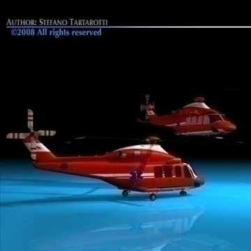 aw-139 air ambulance 3d model 3ds dxf c4d obj 91967