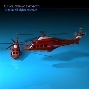 aw-139 air ambulance 3d model 3ds dxf c4d obj 91969