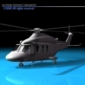 aw-139 air ambulance 3d model 3ds dxf c4d obj 91971
