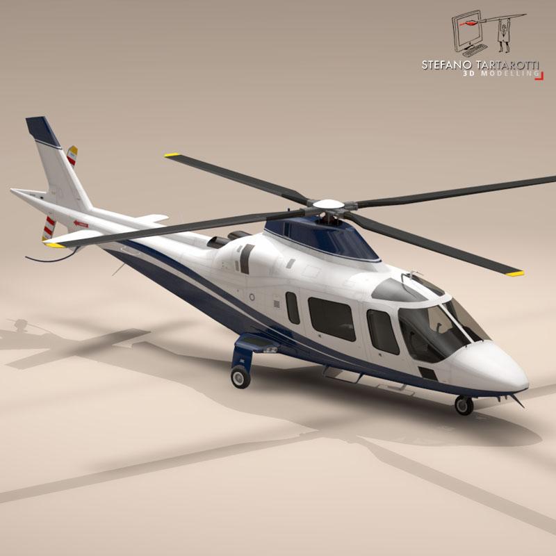aw109 copter 3d model 3ds dxf fbx c4d dae obj 151519