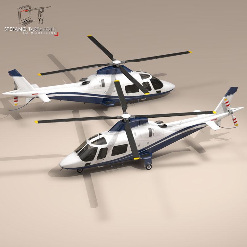 aw109 copter 3d model 3ds dxf fbx c4d dae obj 151520