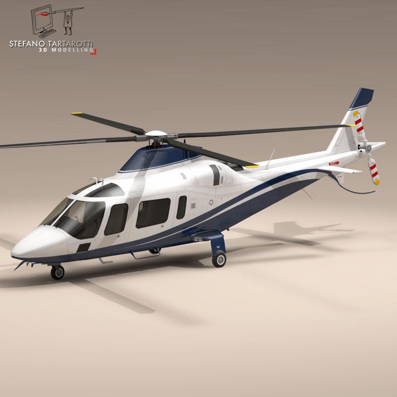 aw109 copter 3d model 3ds dxf fbx c4d dae obj 151522