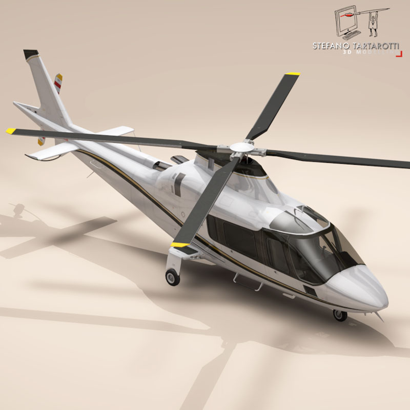 aw109 copter 3d model 3ds dxf fbx c4d dae obj 151523
