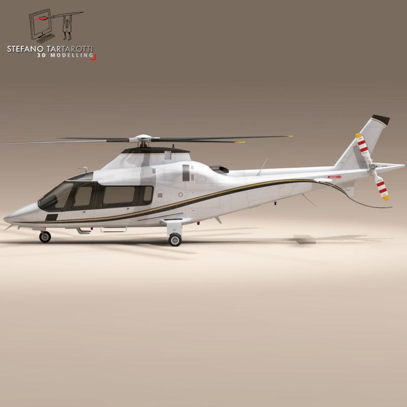 aw109 copter 3d model 3ds dxf fbx c4d dae obj 151524