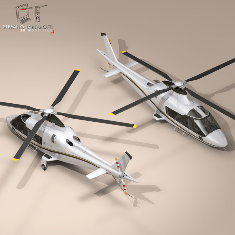 aw109 copter 3d model 3ds dxf fbx c4d dae obj 151525