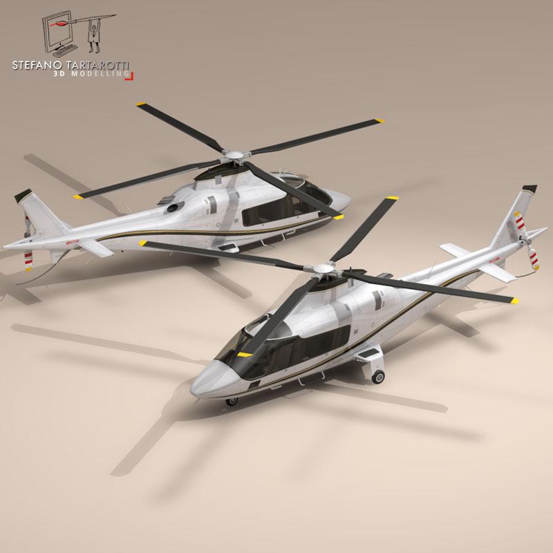 aw109 copter 3d model 3ds dxf fbx c4d dae obj 151526