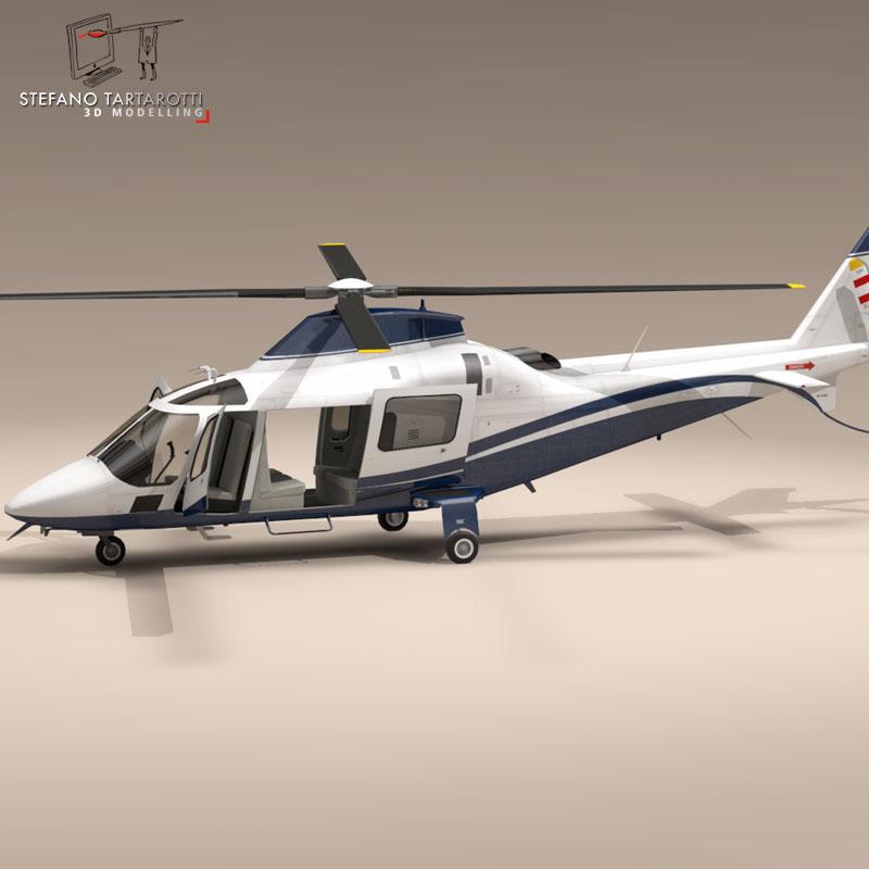 aw109 copter 3d model 3ds dxf fbx c4d dae obj 151527