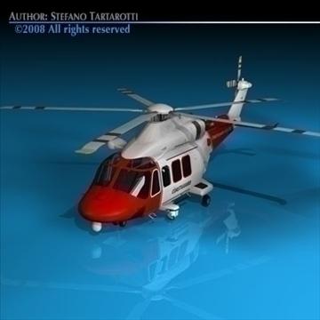 aw139 coastguard 3d model 3ds dxf c4d obj 91980