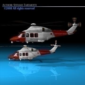 aw139 coastguard 3d model 3ds dxf c4d obj 91982