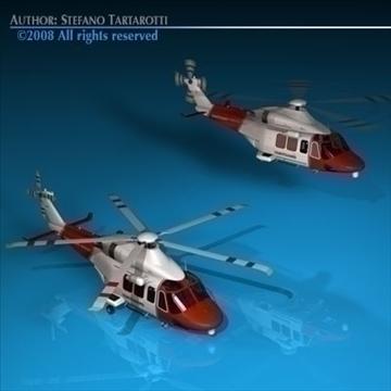 aw139 coastguard 3d model 3ds dxf c4d obj 91983