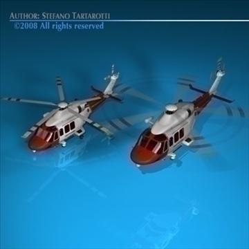 aw139 coastguard 3d model 3ds dxf c4d obj 91984