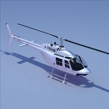 bell 206 jetranger helicopter 3d model 3ds max fbx lwo ma mb other hrc xsi texture obj 111975