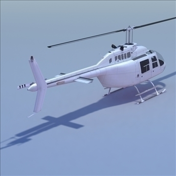 bell 206 jetranger helicopter 3d model 3ds max fbx lwo ma mb other hrc xsi texture obj 111977