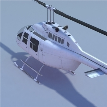 bell 206 jetranger helicopter 3d model 3ds max fbx lwo ma mb other hrc xsi texture obj 111978