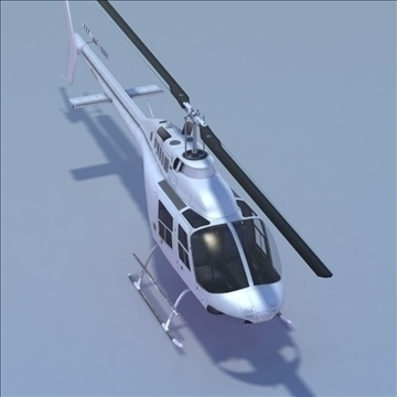 bell 206 jetranger helicopter 3d model 3ds max fbx lwo ma mb other hrc xsi texture obj 111979
