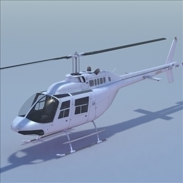 bell 206 jetranger helicopter 3d model 3ds max fbx lwo ma mb other hrc xsi texture obj 111980