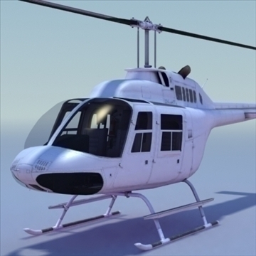 bell 206 jetranger helicopter 3d model 3ds max fbx lwo ma mb other hrc xsi texture obj 111982