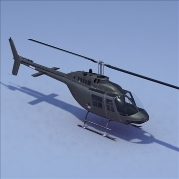 bell 206 jetranger helicopter 3d model 3ds max fbx lwo ma mb other hrc xsi texture obj 111983