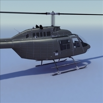 bell 206 jetranger helicopter 3d model 3ds max fbx lwo ma mb other hrc xsi texture obj 111984