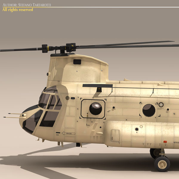 ch-47 eaf хеликоптер 3d модел 3ds dxf fbx c4d dae obj 118663