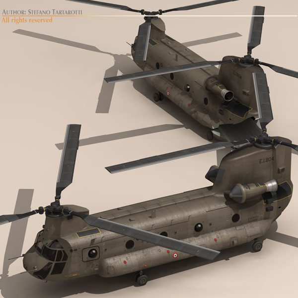 ch-47 esercito italiano helikopters 3d modelis 3ds dxf fbx c4d dae obj 118591