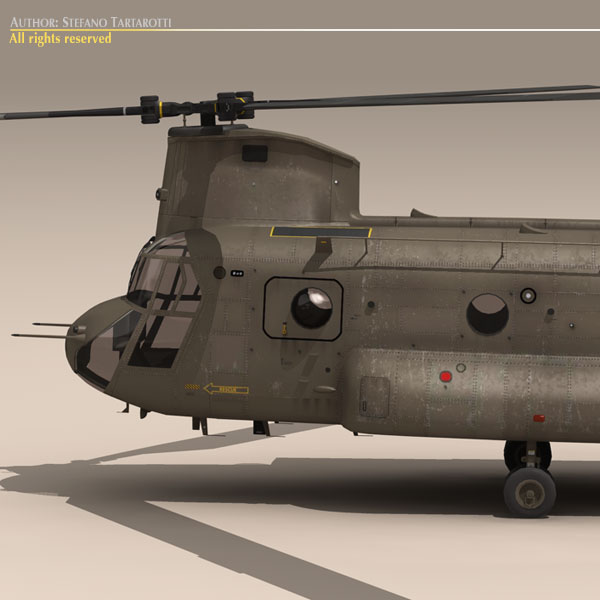 ch-47 esercito italiano helicopter 3d model 3ds dxf fbx c4d dae obj 118592