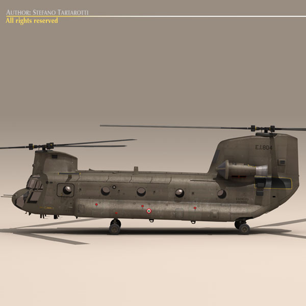 ch-47 esercito Итали нисдэг тэрэг 3d загвар 3ds dxf fbx c4d dae obj 118593