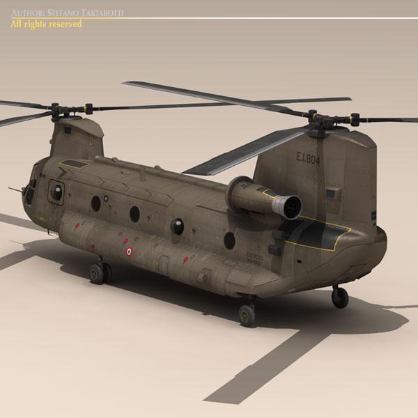 ch-47 esercito Итали нисдэг тэрэг 3d загвар 3ds dxf fbx c4d dae obj 118594