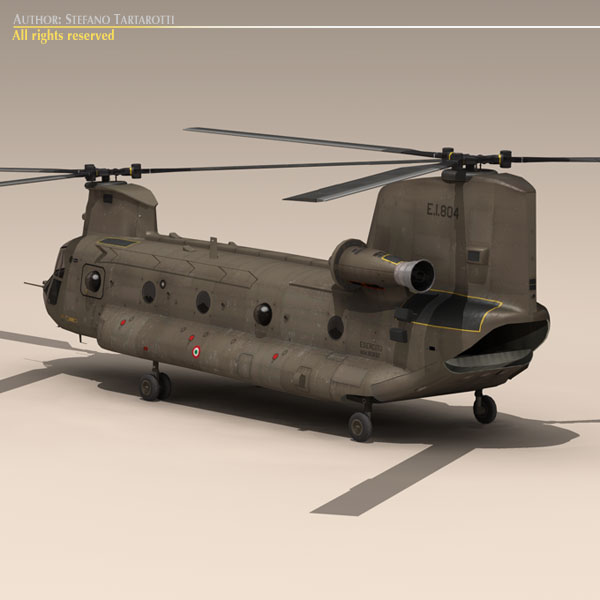 ch-47 esercito italiano helicopter 3d model 3ds dxf fbx c4d dae obj 118595