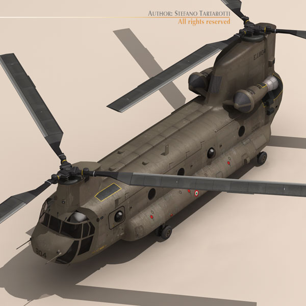 ch-47 esercito italiano helicopter 3d model 3ds dxf fbx c4d dae obj 118596