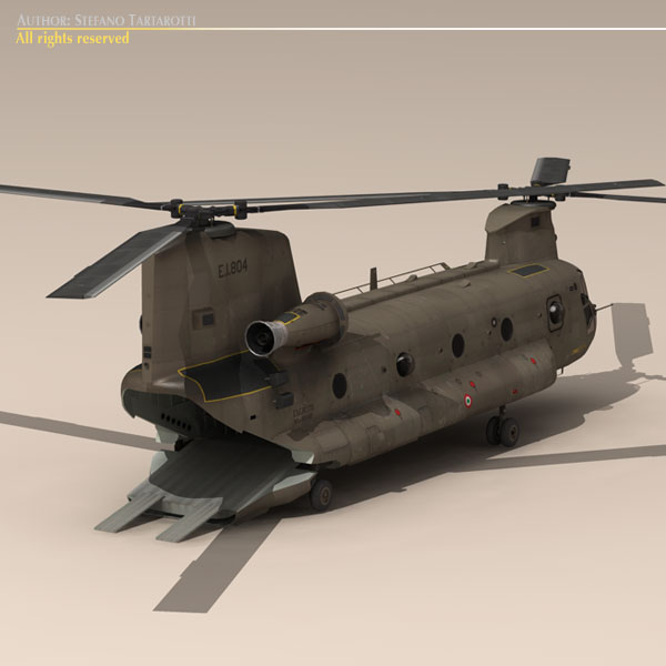 ch-47 esercito italiano helicopter 3d model 3ds dxf fbx c4d dae obj 118597